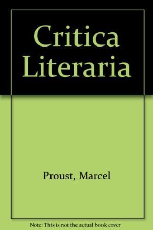 critica literaria marcel proust